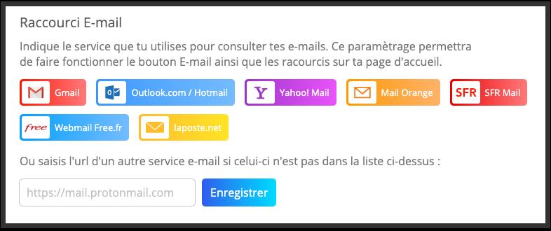 Ajoute un raccourci vers ta boîte e-mail sur la page d'accueil de YouCare