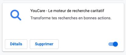 Comment refaire de YouCare ton moteur de recherche par défaut sur Chrome