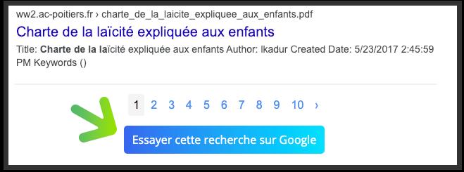 Lancer une recherche Google depuis YouCare