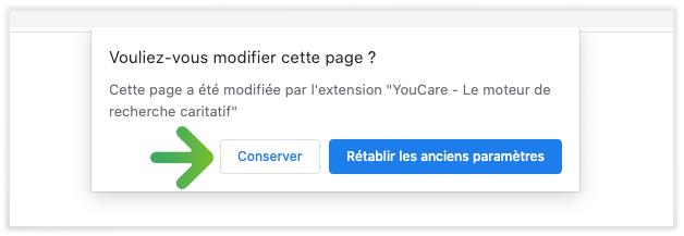 refaire de YouCare ton moteur de recherche par défaut sur Chrome