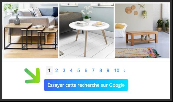 Lancer une recherche Google Images depuis YouCare